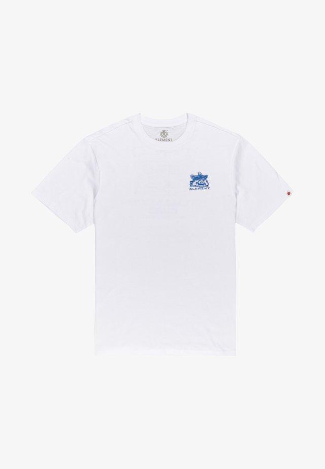 BUTTZVILLE - T-shirt print - optic white