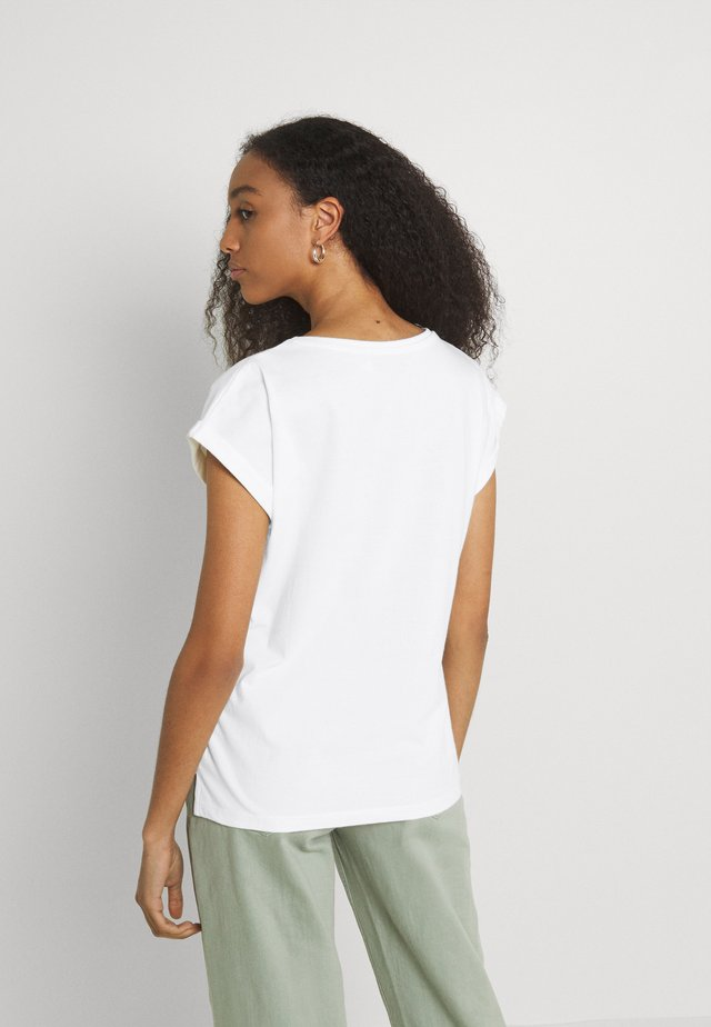 VISBY LOCAL PLANET - T-shirt imprimé - off-white