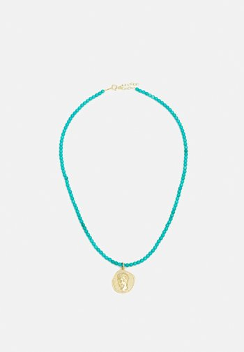 NECKLACE - Necklace - turquoise/gold
