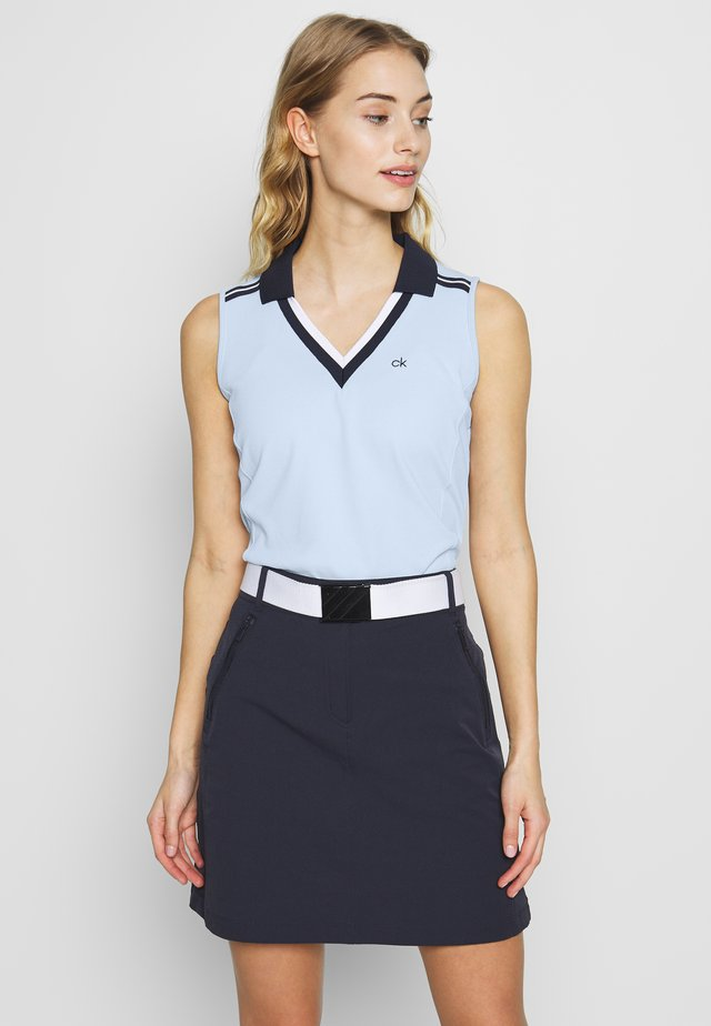 PEDRO SLEEVELESS  - Koszulka polo - light blue
