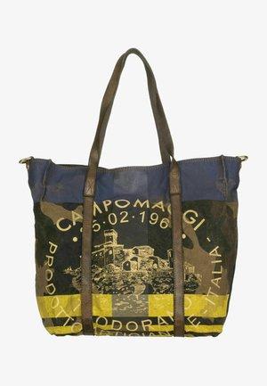Handbag - giallo camou/blu/stampa bianca