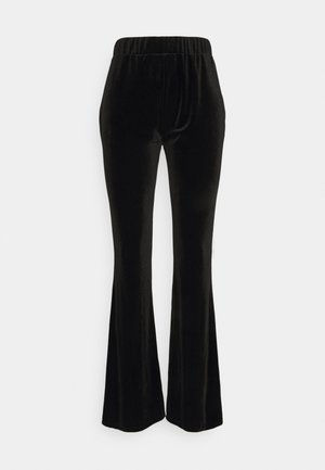 VIVELVETTA FLARED PANT - Tracksuit bottoms - black