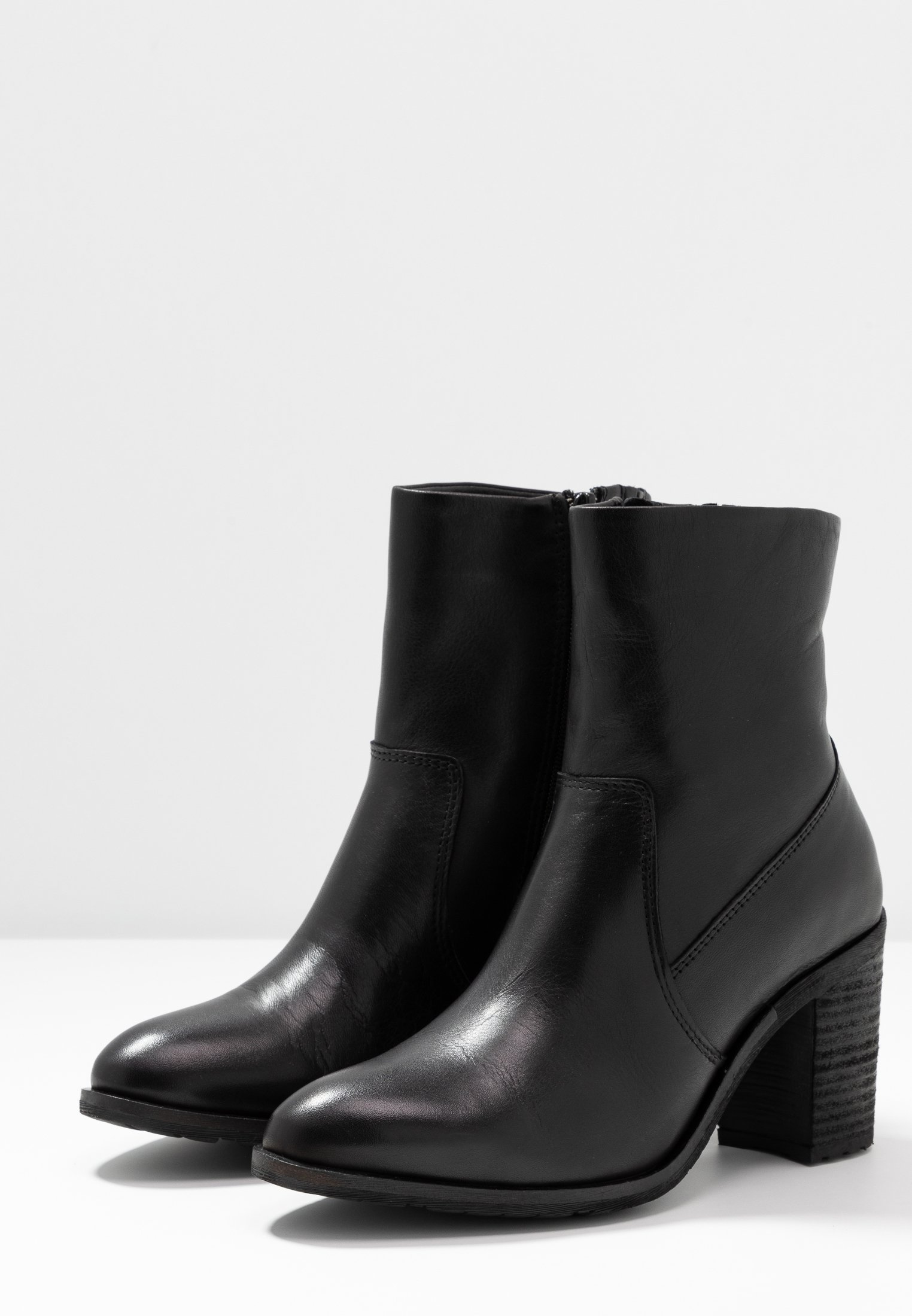 BIACOFIA LEATHER BOOT Ankelboots black