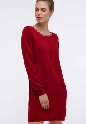 STRICK - Jumper dress - dark red