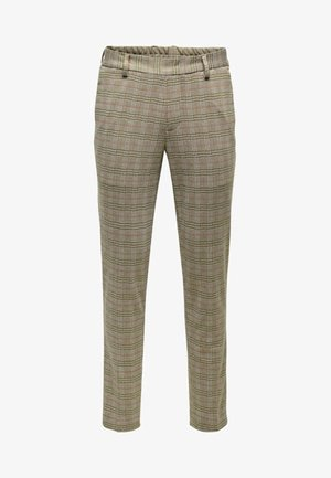 ONSCARL CHECK - Trousers - light brown