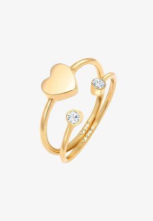 2 PACK HEART - Ringar - gold