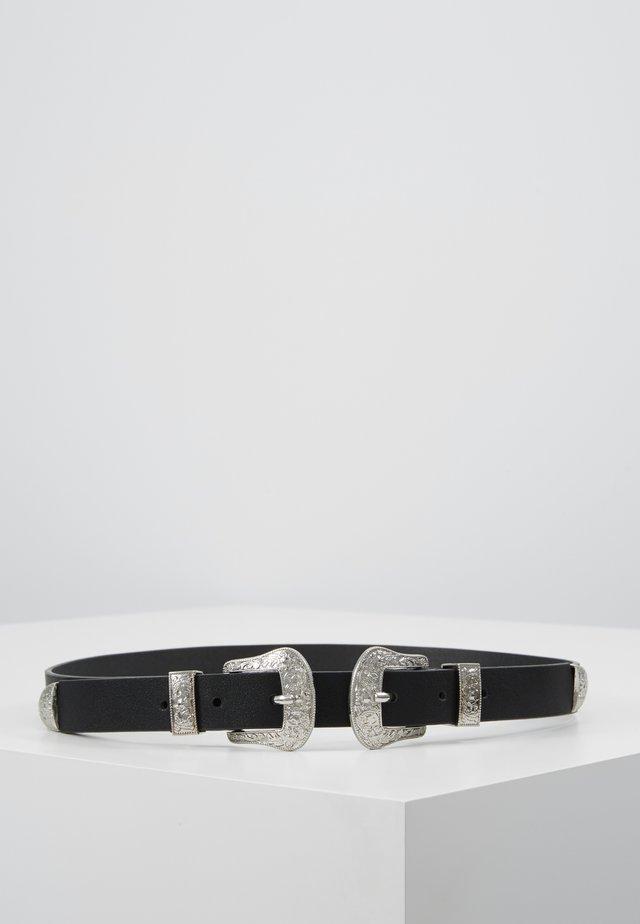 PCLARAH WAIST BELT - Cinturón - black/silver-coloured