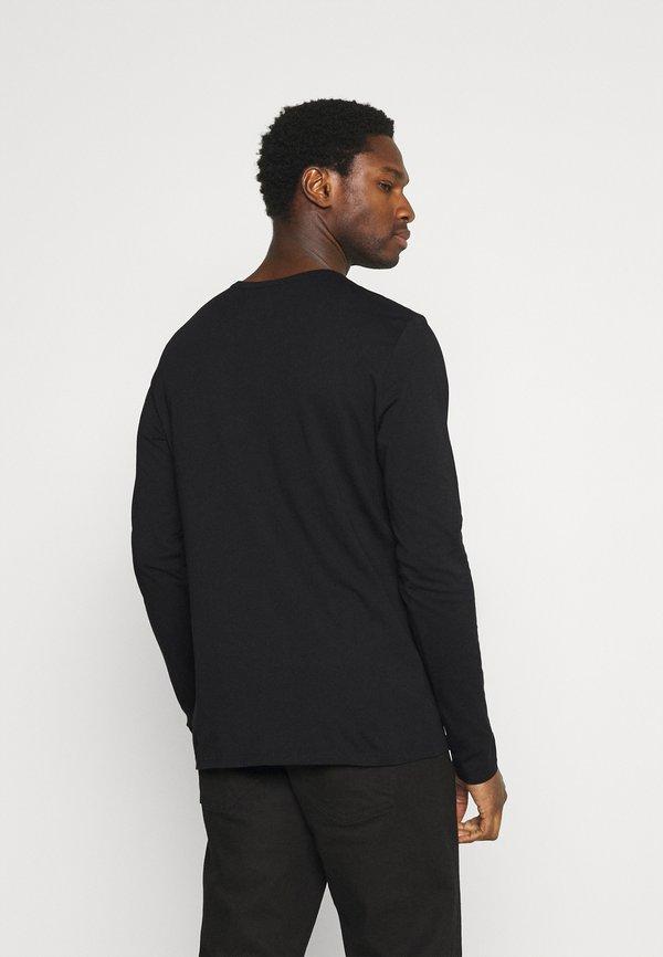 Marc O'Polo DENIM LONG SLEEVE SMALL LOGO - Bluzka z długim rękawem - black/czarny Odzież Męska SSCH