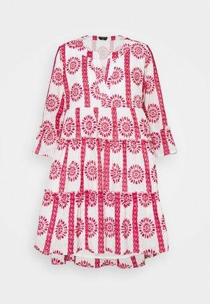 INDY BRODERIE ANGLAISE BOHO DRESS - Korte jurk - white