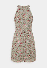 Vila - VIMILINA FLOWER DRESS - Cocktail dress / Party dress - green milieu/red/pink - 5