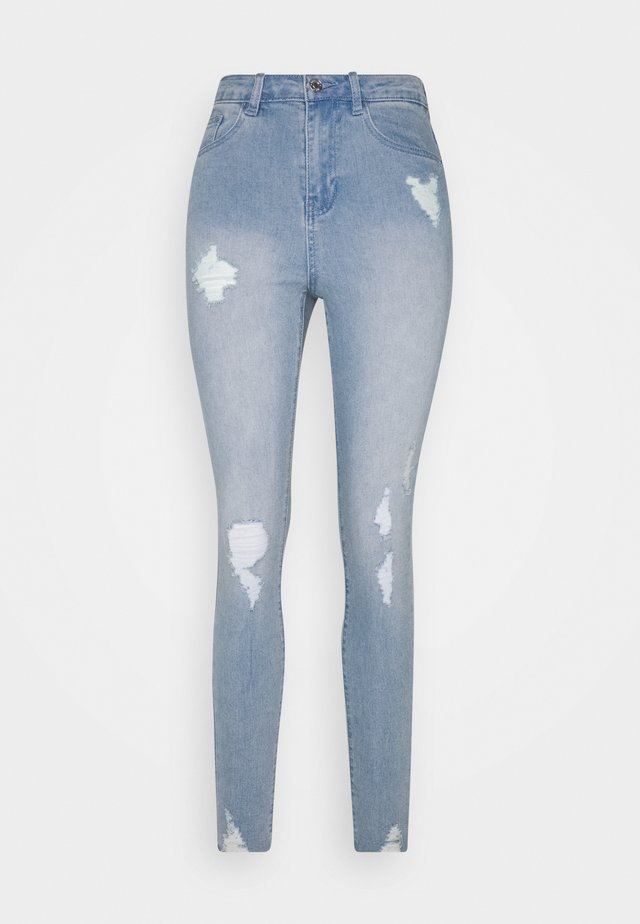 SINNER HIGHWAISTED DESTROYED - Jeans Skinny - light blue