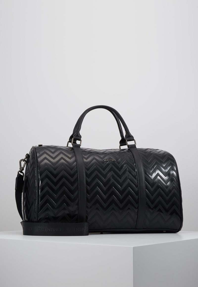 Valentino by Mario Valentino - NUTRIA EMBOSSED WEEKENDER - Sac week-end - nero