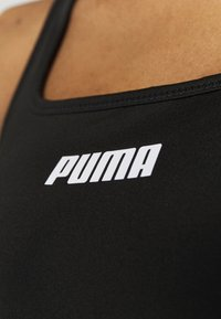 Puma - PAMELA REIF X PUMA SQUARE NECK BRA - Medium support sports bra - black - 5