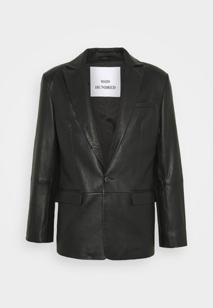 MICHAEL  - Leather jacket - black
