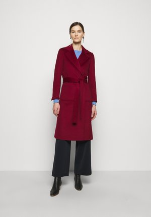 RUNAWAY - Klasický kabát - burgundy