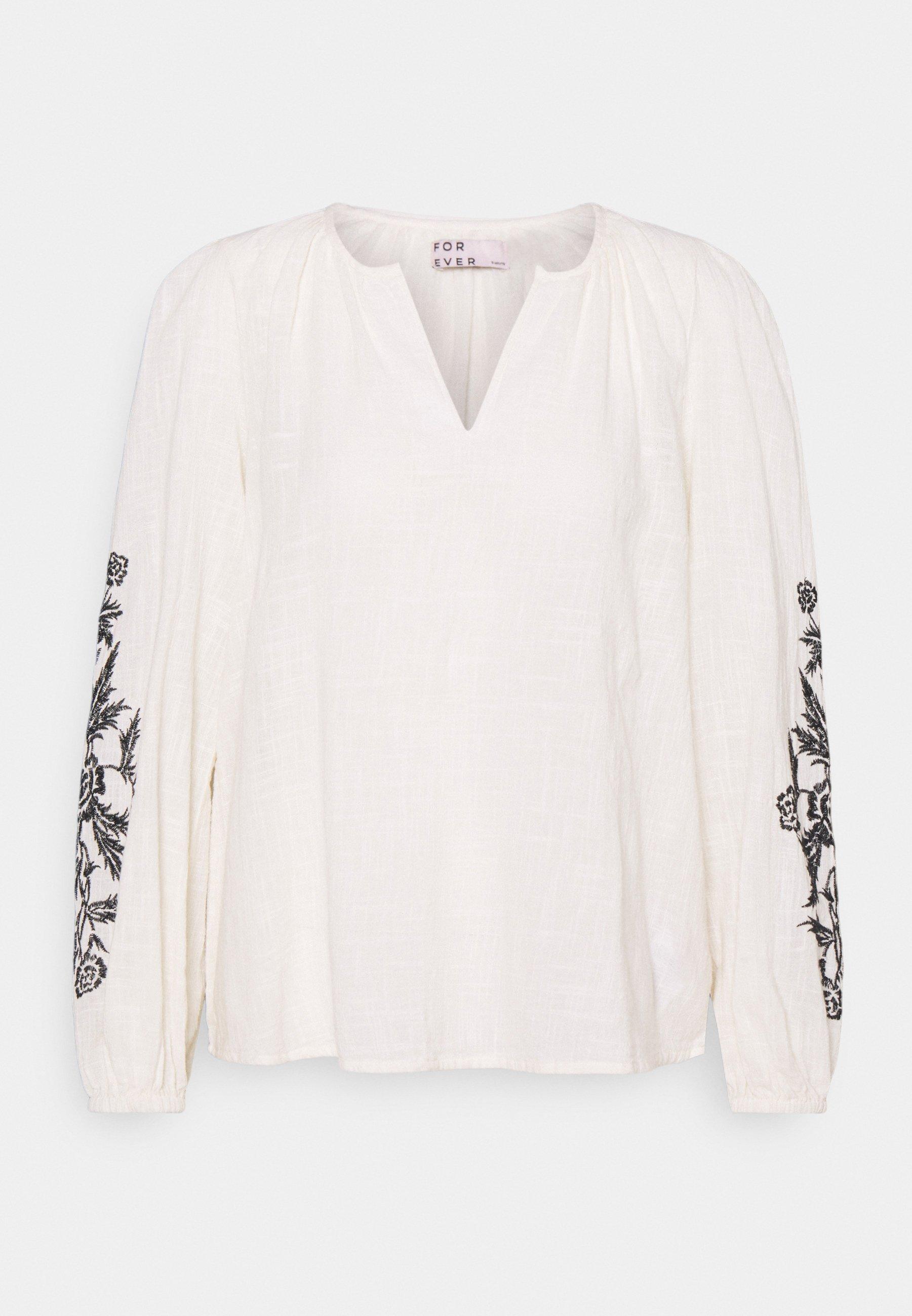 Women BLOUSE  - Long sleeved top - birch