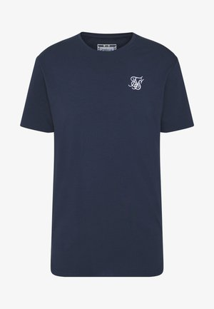 CONTRAST ROLL SLEEVE TEE - T-shirt basic - navy/white