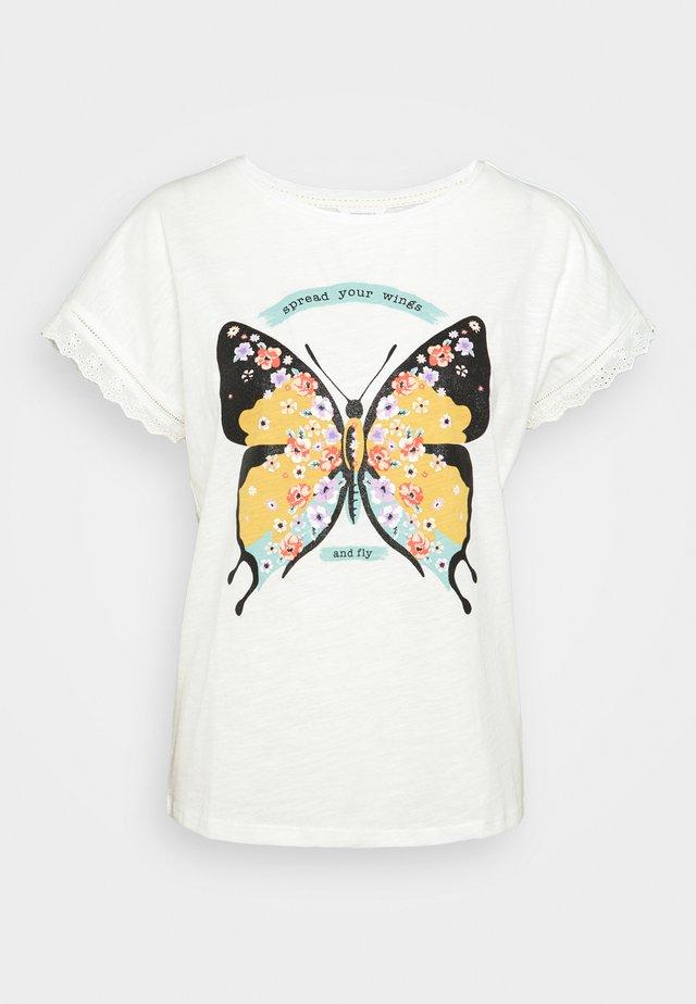 CAMISETA MARIPOSA  - Print T-shirt - ivory