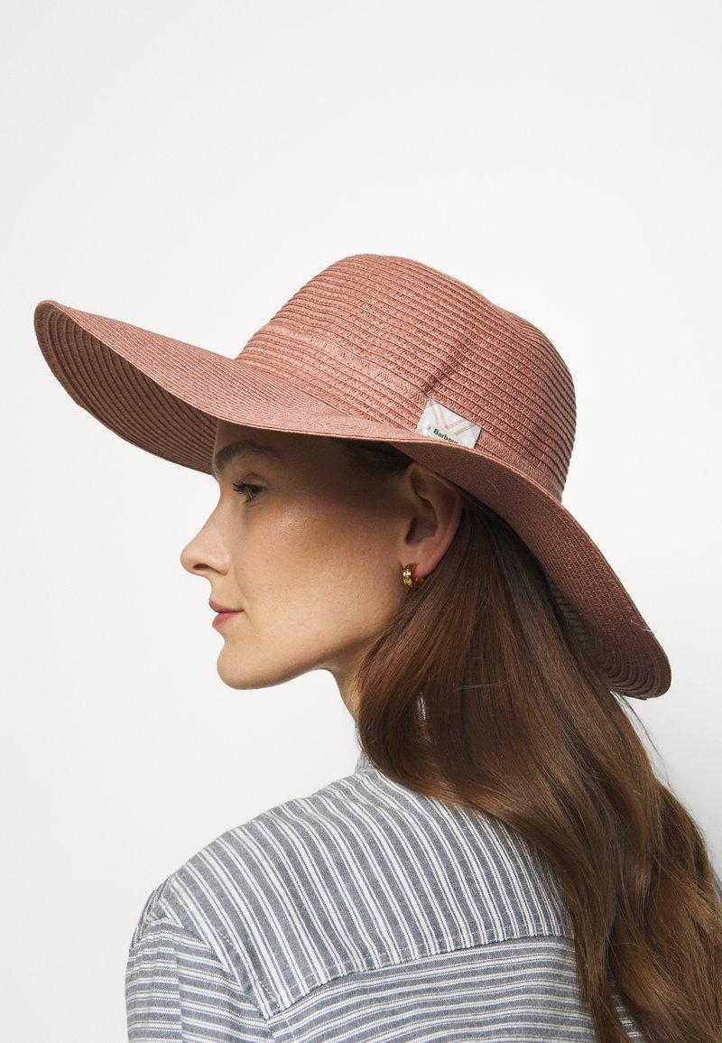 Barbour - WELLWOOD TARTAN SUN HAT - Hat - rose tan
