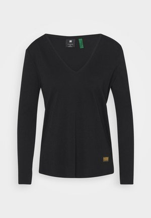 CORE STRAIGHT V T WMN L\S - Long sleeved top - dark black