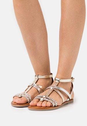 Sandals - light gold/silver