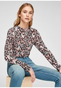 QS by s.Oliver - Long sleeved top - black aop - 6