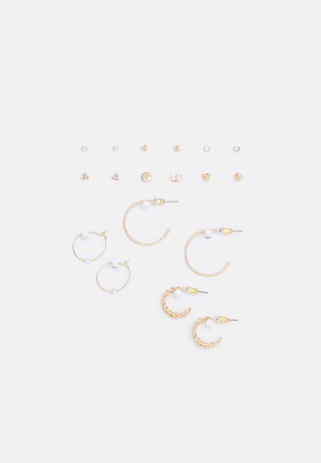 9 PACK - Earrings - gold-coloured