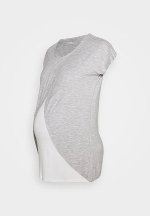 BASIC NURSING TOP - Print T-shirt - mid grey mélange