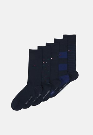 MEN SOCK TIN GIFTBOX STRIPE AND DOT 5 PACK - Socks - navy