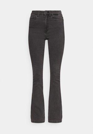 NMSALLIE  - Flared Jeans - dark grey denim