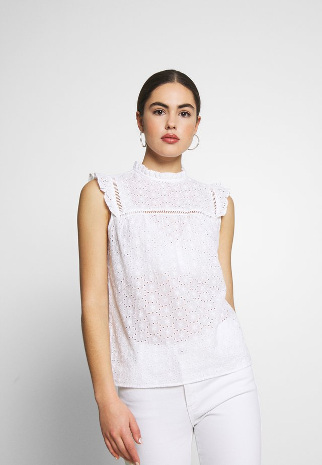 SUNNY CUTWORK PIECRUST SHELL - Bluzka - white