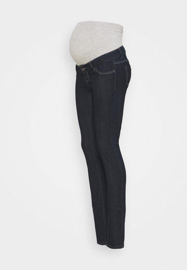 MLJULIA UNWASHED - Džíny Slim Fit - dark blue denim