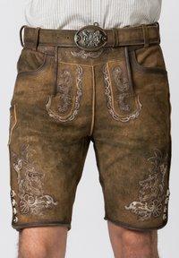 Stockerpoint - HANS - Leather trousers - havana - 4