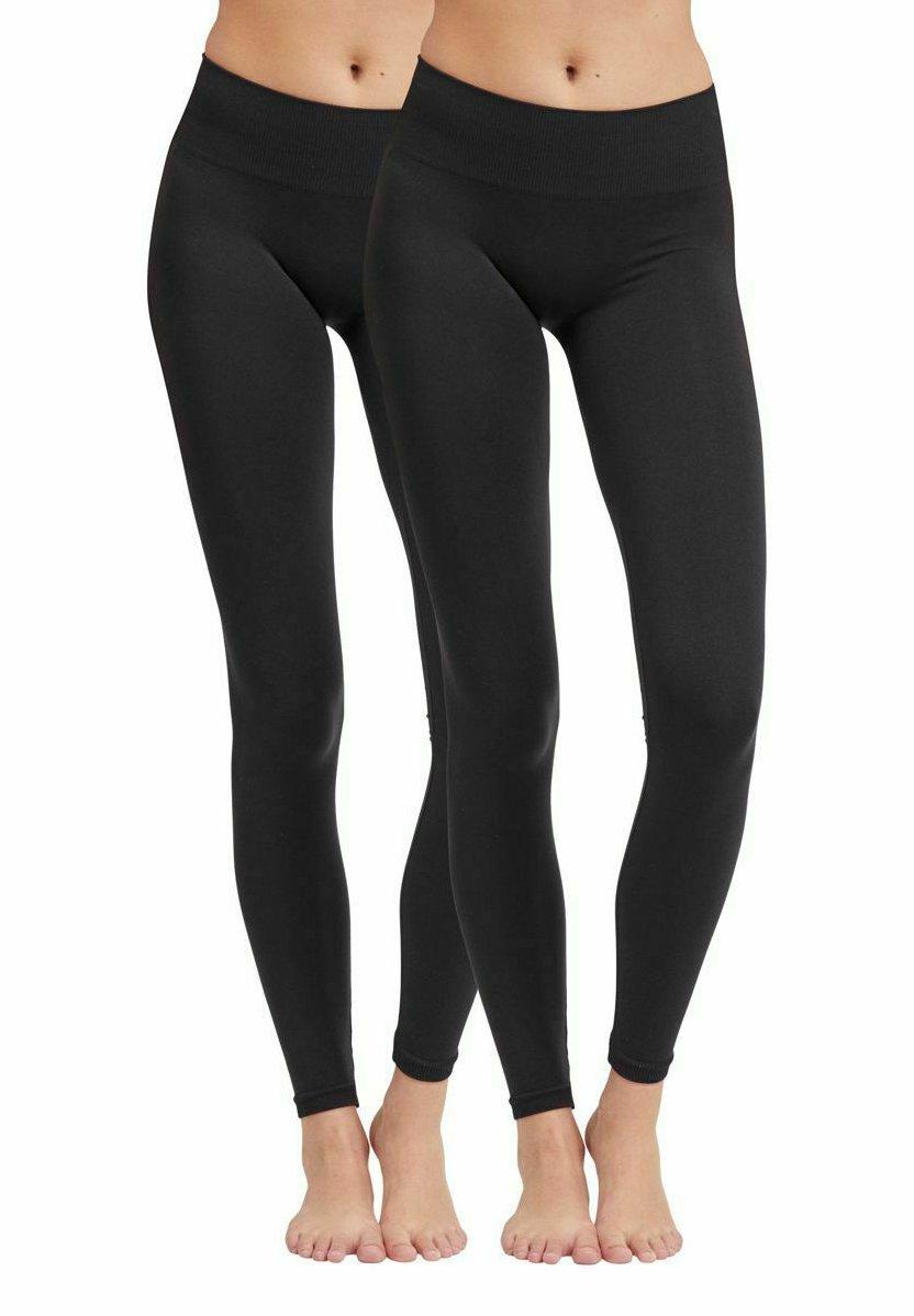 Damen 2PACK - Leggings - Hosen - black