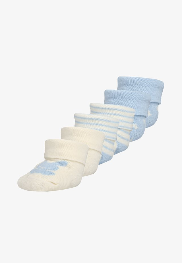BABYSOCKS NEWBORN WELCOME BABY 6 PACK - Strumpor - hellblau