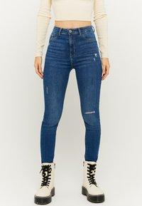 TALLY WEiJL - Jeans Skinny Fit - dark blue denim - 0