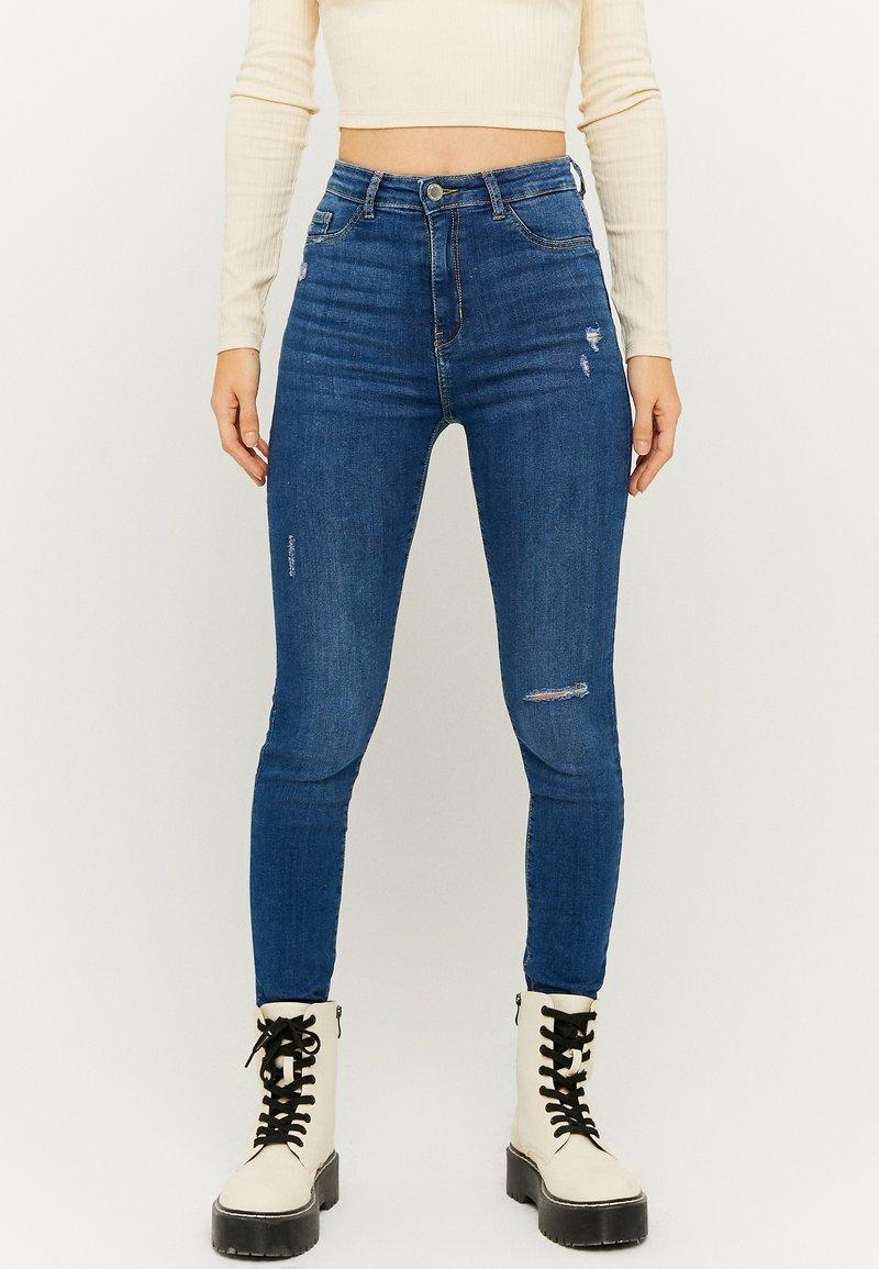 TALLY WEiJL - Jeans Skinny Fit - dark blue denim