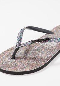 Havaianas - SLIMCARNAVAL - T-bar sandals - black - 2