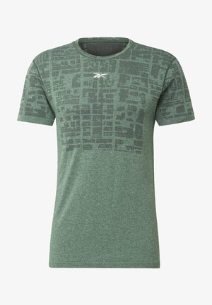 LES MILLS® MYOKNIT SEAMLESS T-SHIRT - T-Shirt print - green