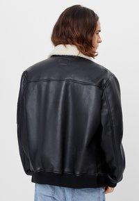 Bershka - Faux leather jacket - black - 2