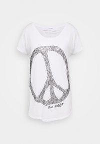 True Religion - WIDE CREW PEACE - Camiseta estampada - white - 0