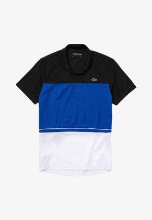 TENNIS BLOCK - Polo shirt - noir / bleu / blanc