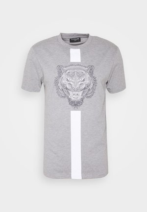 FURY TEE - Print T-shirt - grey