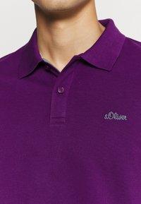 s.Oliver - KURZARM - Polo shirt - purple - 5
