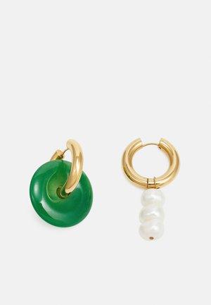 Oorbellen - gold-coloured/green