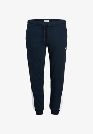 PLUS SIZE TAPERED FIT - Tracksuit bottoms - navy blazer