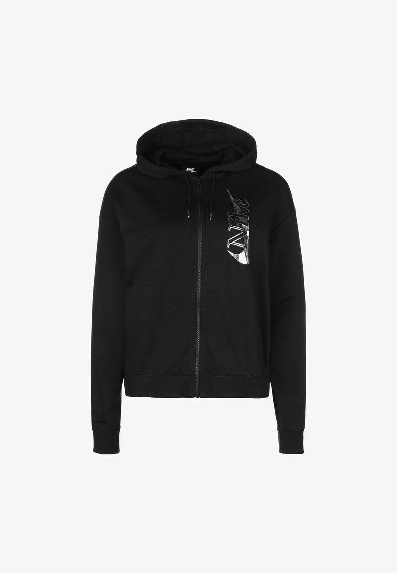 Nike Sportswear - LOOSE FIT - Training jacket - black / metallic silver
