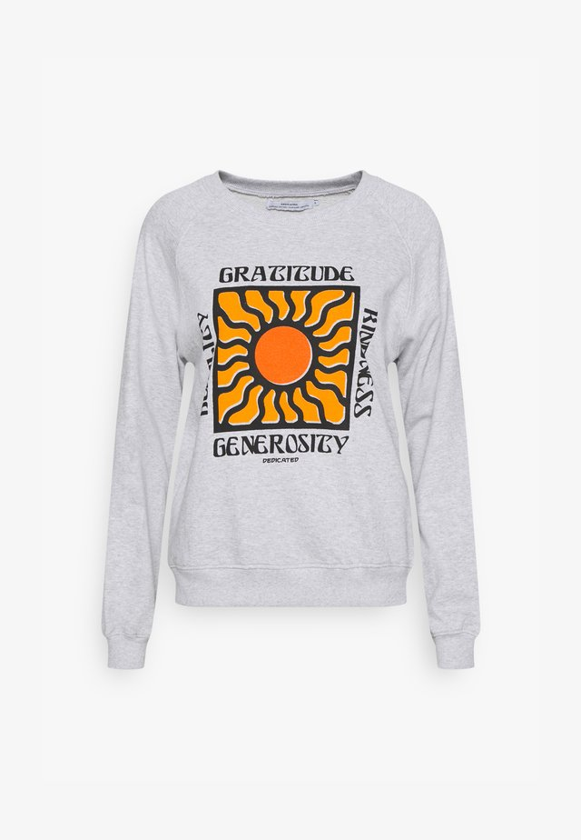 YSTAD RAGLAN GRATITUDE - Sweater - grey melange