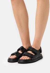 Zadig & Voltaire - ALPHA GRUNGE - Sandals - noir - 0