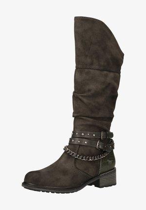 Cowboy/Biker boots - dunkelgrau 20